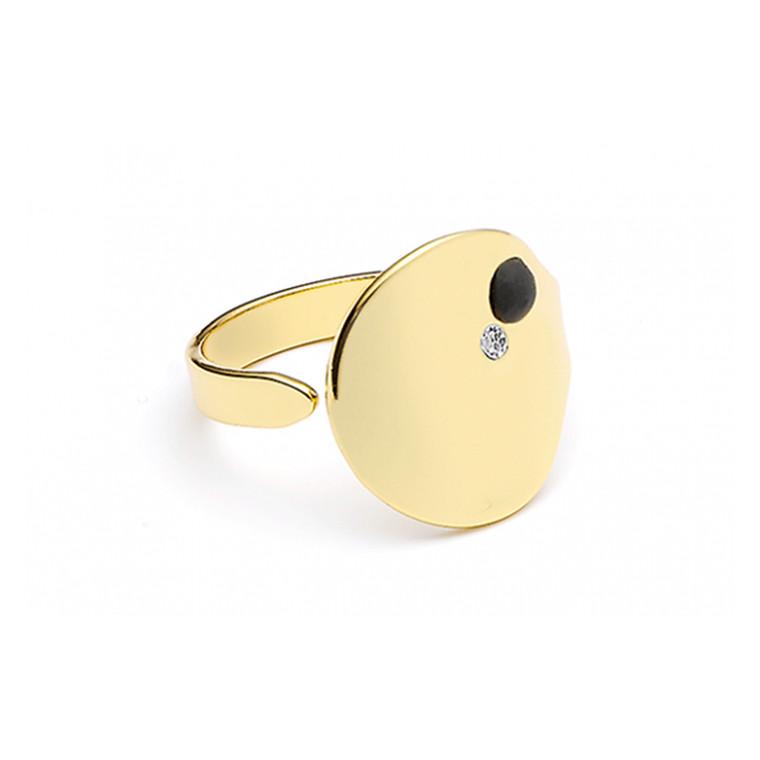 Louise Kragh Ring Microdot guld