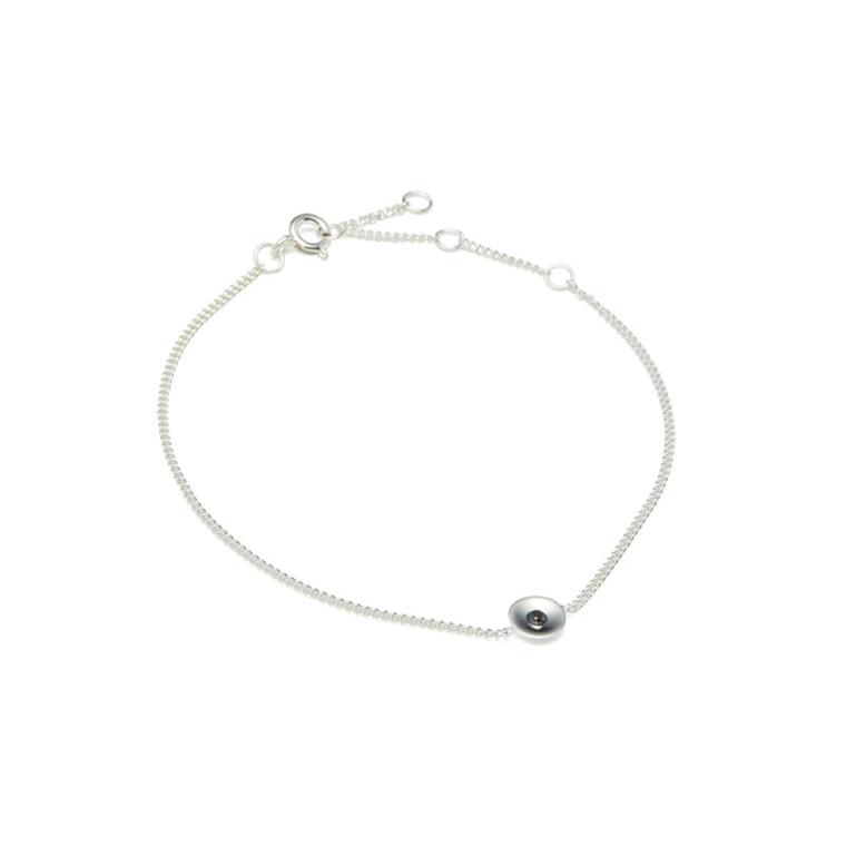 Louise Kragh Armbånd Embrace Sølv-Sort