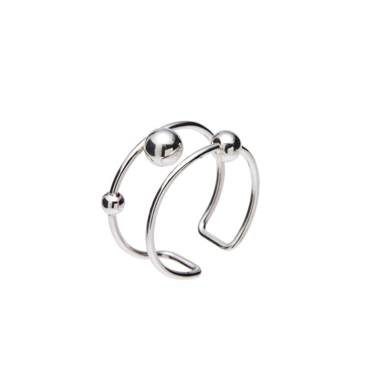 Louise Kragh Ring Sphere Sølv