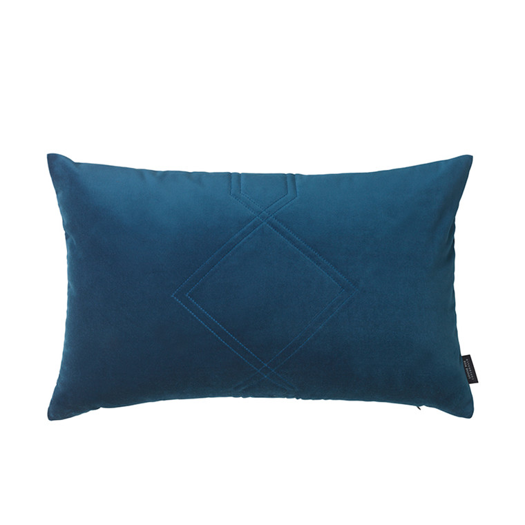 Louise Roe Diamond Velvet pude Royal Blue