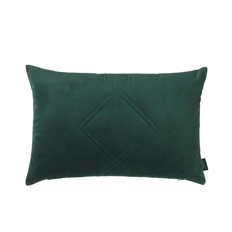Louise Roe Diamond Velvet pude Jade green 40 x 60 cm