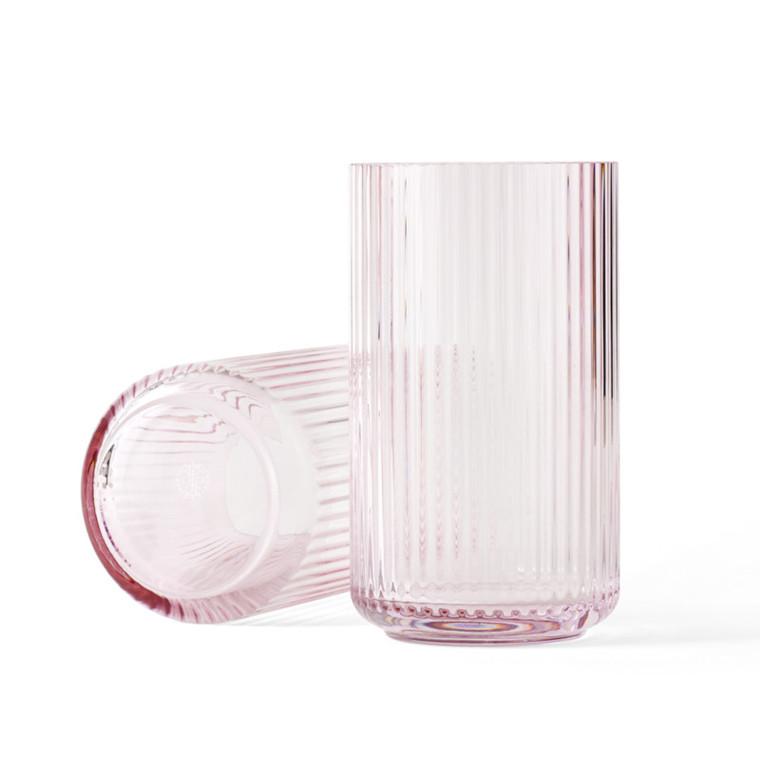 Lyngby Vase Glas Rosa