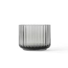 Lyngby Porcelæn Lysestage Glas Smoke