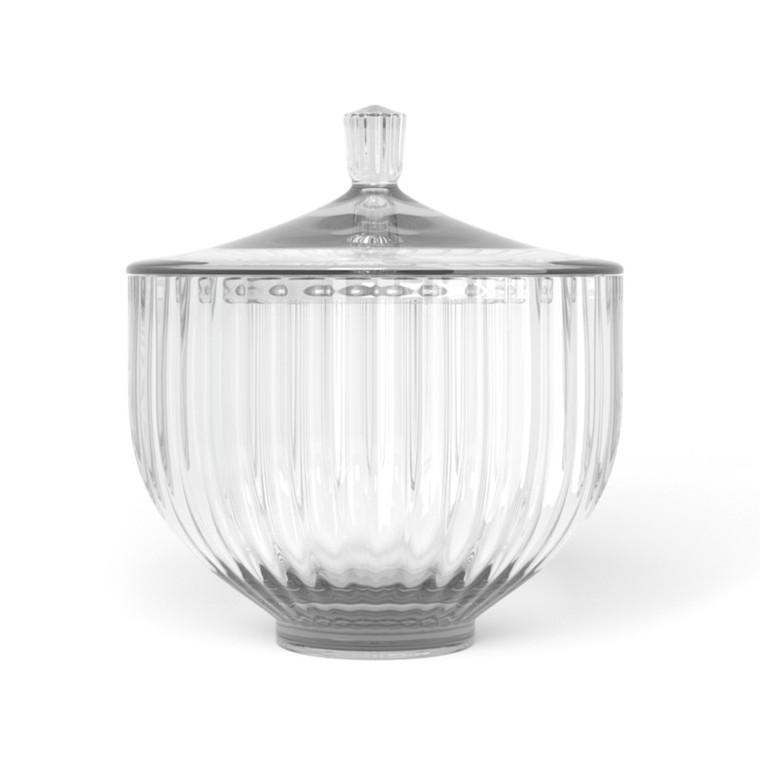 Lyngby BonBonniere Lågkrukke Klar Glas