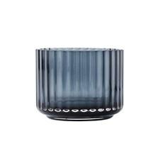 Lyngby Porcelæn Lysestage Glas Blå