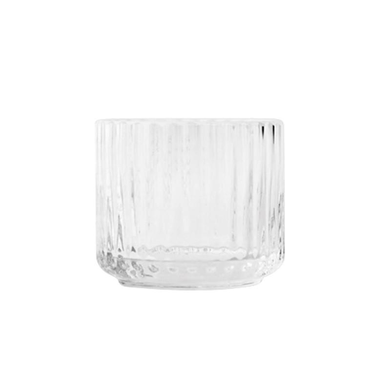 Lyngby Porcelæn Lysestager Glas Klar