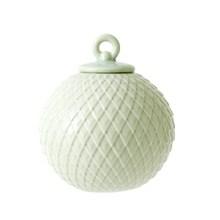 Lyngby Porcelæn Rhombe Dekorationskugle Sart Grøn