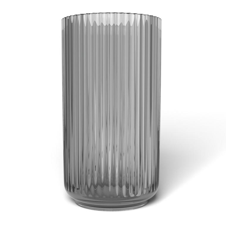 Lyngby Vase Glas Grå Røget