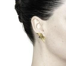 Maria Black Wing Reverse ørering Guld