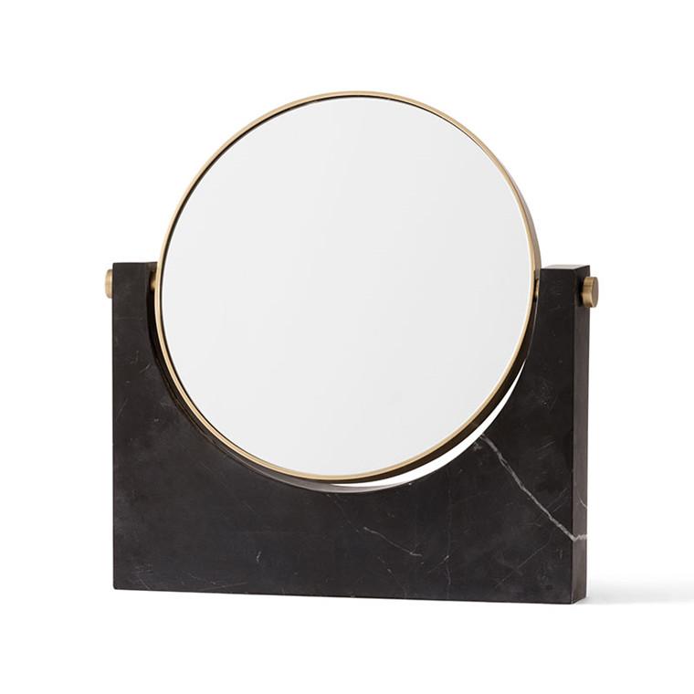 Menu Pepe Marble Mirror Sort og Messing