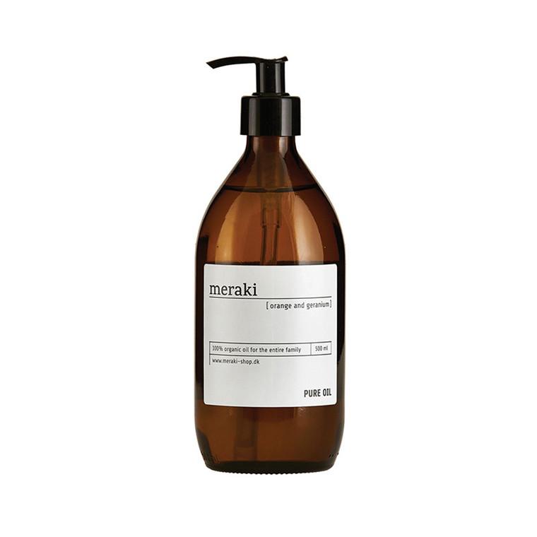 Meraki Pure oil Appelsin & Geranium 500 ml.
