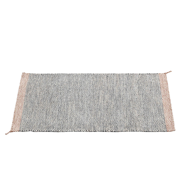Muuto Ply Rug Sort-hvid