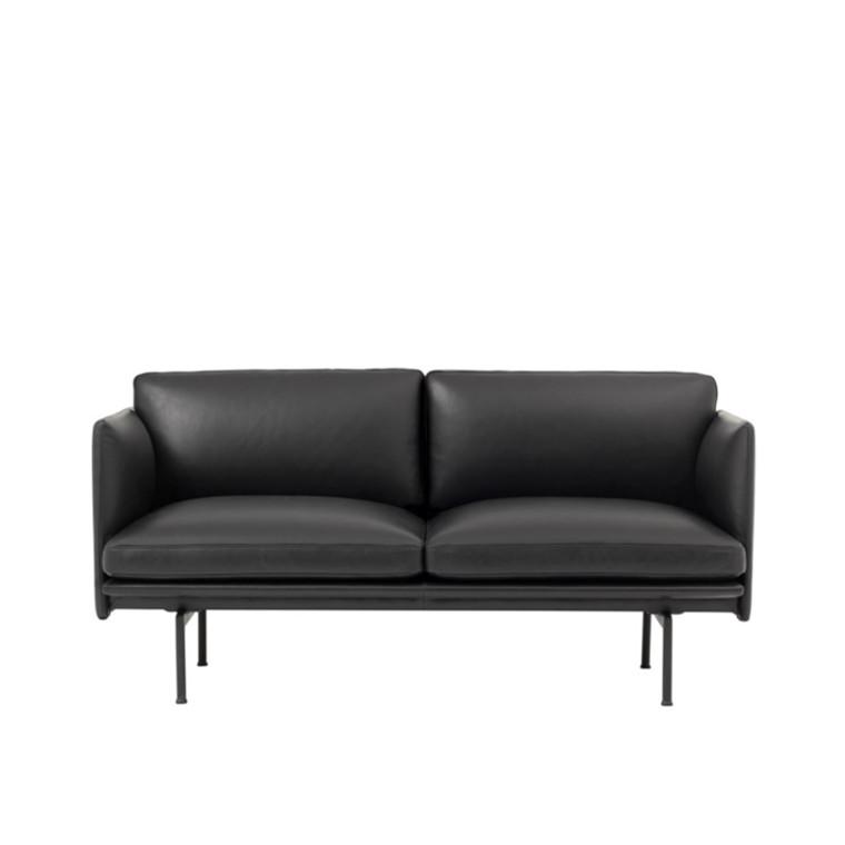 Muuto Outline Studio Sofa Læder Sort