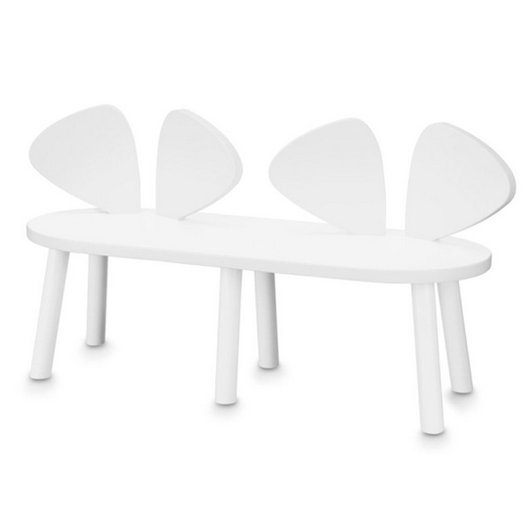 Nofred Mouse Bench, hvid