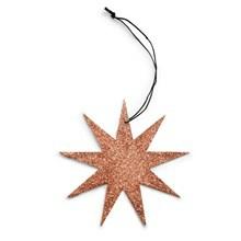 Nordstjerne Glitter Stjerne 9 Point Kobber