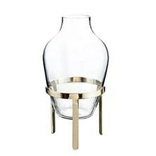 Nordstjerne Glas Vase m. Messing Stand