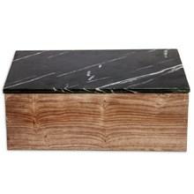 Nordstjerne Træ skrin med Sort marmor låg XL