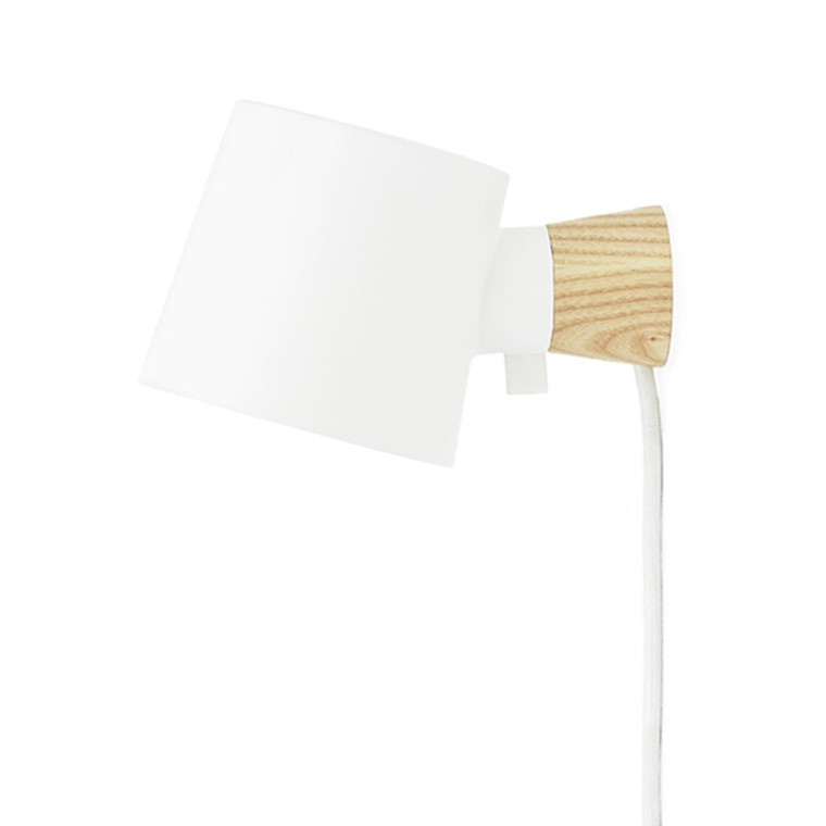 Normann Copenhagen Rise Væglampe Hvid