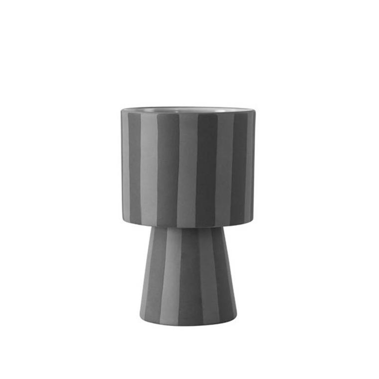 OYOY Toppu vase i grå og sort