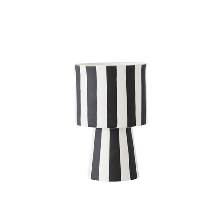 OYOY Toppu vase i hvid og sort