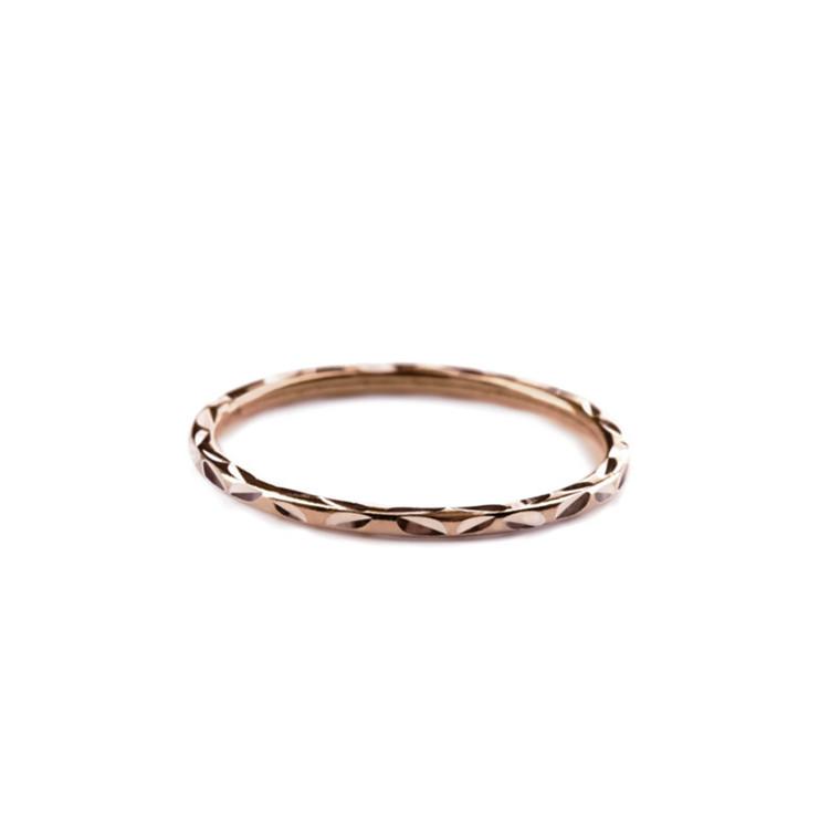 Pernille Corydon Ring Facet Rosa Guld