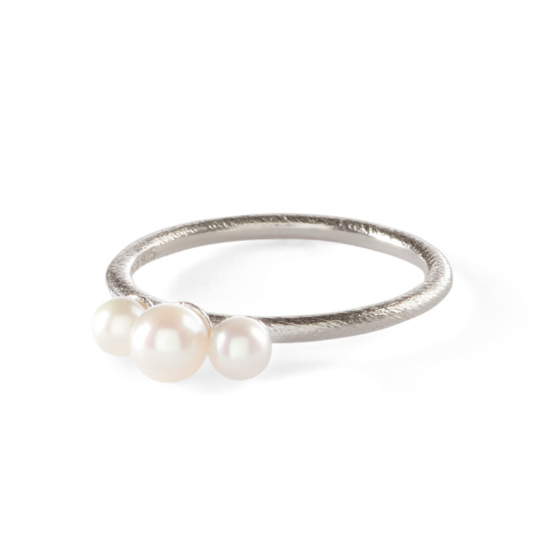 Pernille Corydon Ring 3 Pearls Sølv
