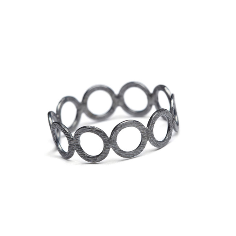 Pernille Cordon Ring Circle Rhodineret