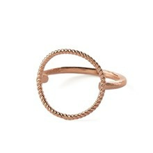 Pernille Corydon Twisted Open Coin ring Rosaguld