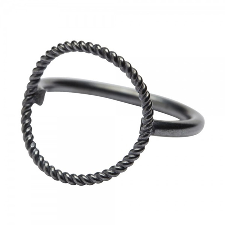 Pernille Corydon Twisted Open Coin Ring ox
