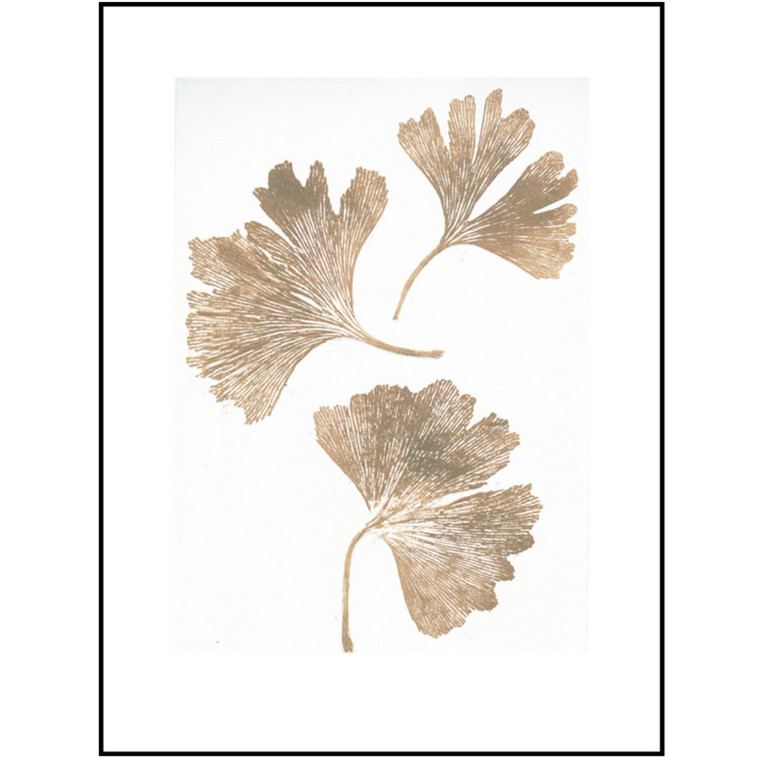 Pernille Folcarelli Illustration Gingko Gold 30x40