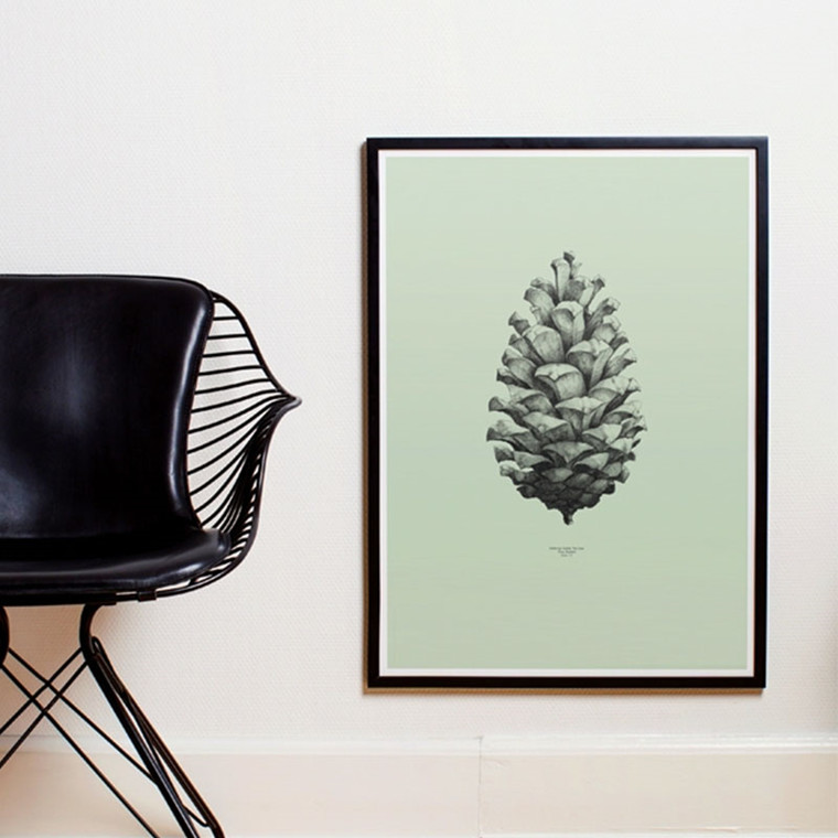Paper Collective Plakat Pine Cone Grøn
