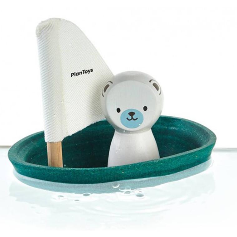 Plantoys Isbjørne sejlbåd