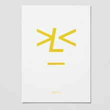 Playtype Lemonface Medium Plakat Hvid-Gul