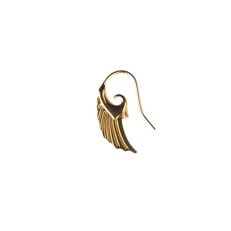 Plissé Copenhagen Ørering Angel Wing Mini Guld