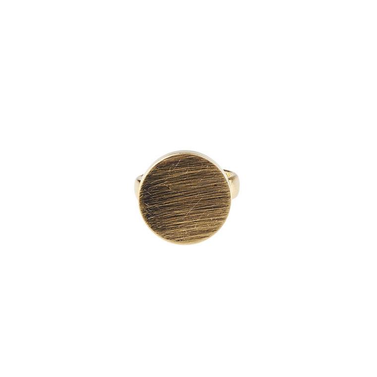 Plissé Copenhagen Ring Pendant Guld