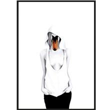 Sanna Wieslander Art Swan Lady Postkort
