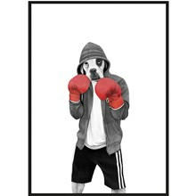Sanna Wieslander Art Street Boxer Postkort