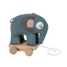 Sebra Trækelefant Pastel Blå