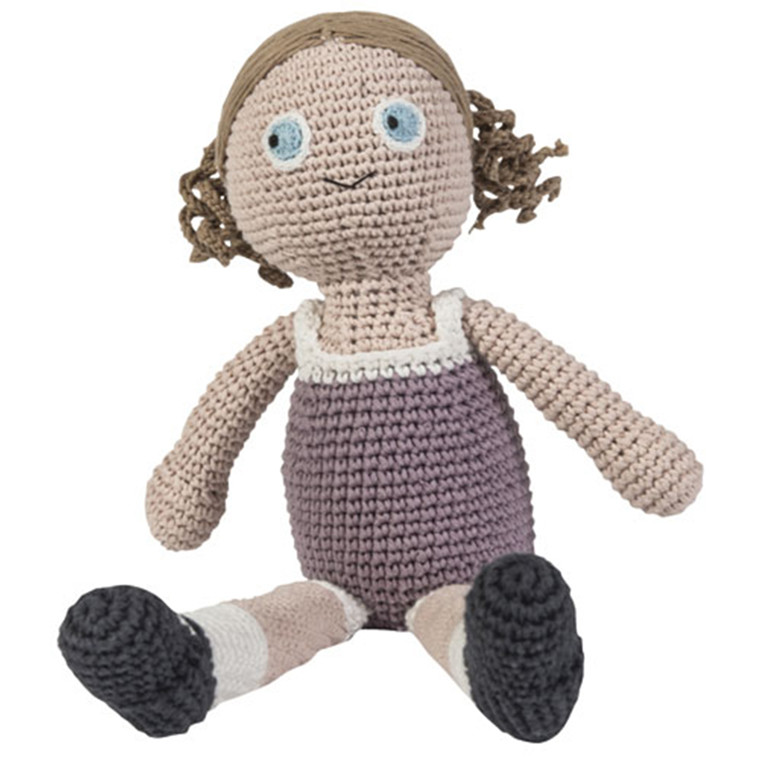 Sebra hæklet dukke Daisy