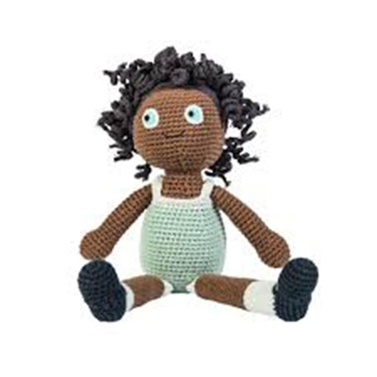 Sebra hæklet dukke Lilly