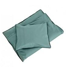 SemiBasic Sengetøj Junior Støvet Grøn med grøn kant