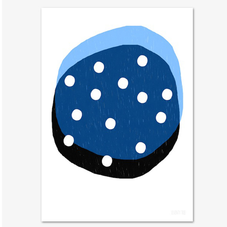 Seventy Tree Dotty Circles, blue A5