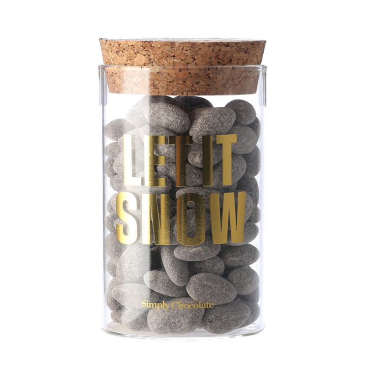Simply Chocolate Jar Let It Snow