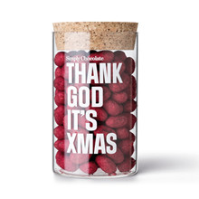 Simply Chocolate Jar Thank God It's Xmas