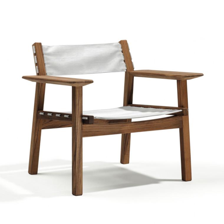 Skargaarden Djurö Lounge Stol Teak-Hvid