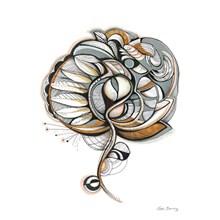 Sofie Børsting Brown Flower A4 Illustration