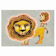 Sofie Børsting Plakat A3 Lion Family