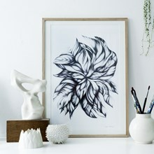 Sofie Børsting Plakat Swirling Leaves 50x70