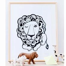 Sofie Børsting Plakat A3 Graphic Lion
