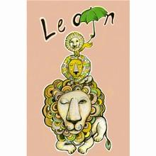 Sofie Børsting Postkort Lion Pink